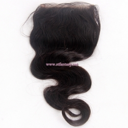 China Hair Extension Suppliers 4x4 12 Inch Body Wave Natural Color Lace Closure Hair Toupee