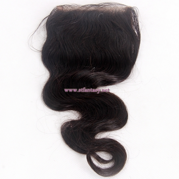China Hair Extension Suppliers 4x4 12 Inch Body Wave Natural Color