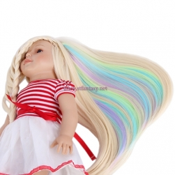 Fantasywig Wholesale American Girl Doll Wig Synthetic Hair Extensions Clip Hair Welf For Dolls