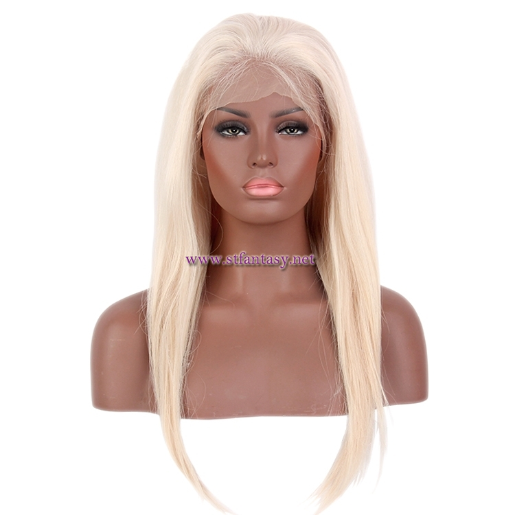 0b2adfda4 China Human Hair Lace Front Wig Suppliers Good Quality 8-26 Inch Straight  Blonde Wig