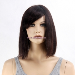 Human Hair Lace Front Wigs Wholesale Women Short Brown Brazilian Hair Wig For Women