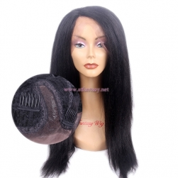 2017 Newest Hair Product Japanese Synthetic Hair U Part Lace Frontal Long Black Wig For Black Women