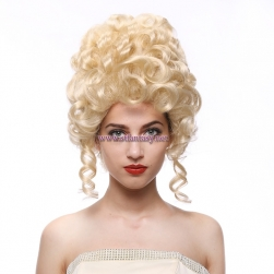 Cosplay Wig For Women-Wholesale 14 Inch Blonde Curly Synthetic Hair Beehive Wig For Women