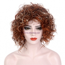 Best Selling Short Wig-Rock Style Mix Colors Kinky Curly Afro Wigs Wholesale