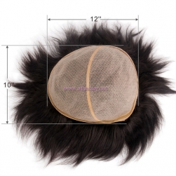 Wholesale Hairpieces -100% Virgin Hair Super PU 12x10 Toupee for Man