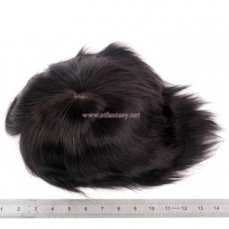Mens Toupee Wholesale- 100% Virgin Hair 11X9  Natural Straight Pieces