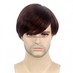 "Short Wig Men-Wholesale 8"" Brown Hairpieces From Guangzhou Wig Supplier"