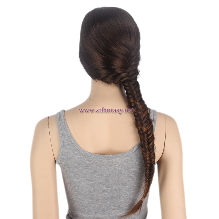 ShenZhen Wig -Long Straight Mannequin Wig with Braid Factory Price