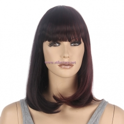 "Straight Bob Wig Supplier-Wholesale 15"" ""Bob Wig Hair Style Synthetic  Wig China"