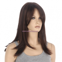 "China  Wig Supplier-Wholesale 16"" Straight Simple Style Wig Manufacturer"