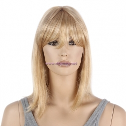 "Blonde Wig Supplier-Wholesale 14"" Shoulder Wig 100% Synthetic Fiber with Bnags"