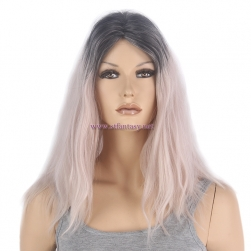 "Guangzhou Wig Supplier-Wholesale 16"" Lotus Root Color  Middle Part Cosplay  Wig"