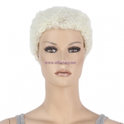 Fantasy Wig- 2 inch Cream Color Mannequin Wig Factory