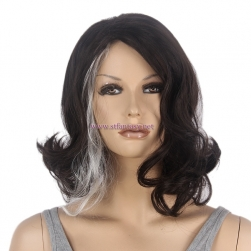 "Guangzhou Wig Factory- 15"" Natural Black Wavy Wig for Women"