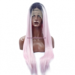 Long Ombre Pink Wig- Wholesale Synthetic Lace Front Wigs Supplier