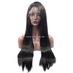 Ultra Long Lace Front Wig-  Natural Black Straight Synthetic Wig