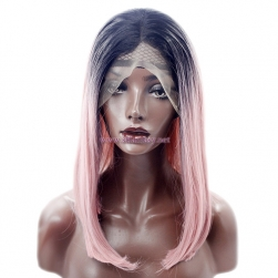 Pink Ombre Wig- Cheap Synthetic Lace Front Wig from Guangzhou Fantasy Wig