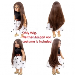 "STfantasy Doll Wig for 18"" American Girl Doll AG OG Journey Girls Gotz My Life Brown Long Straight Synthetic Hair Girls Gift"