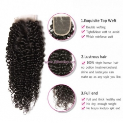 ST Fantasy 3Bundles Brazilian Hair Jerry Curly With Lace Closure 44