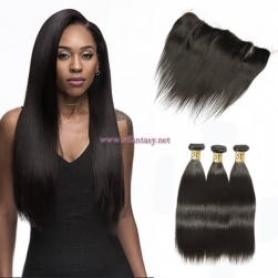 ST Fantasy Indian Lace Frontal Closure with 3bundles Straight Hair