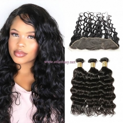 ST Fantasy Best Lace Frontal With 3Bundles Natural Wave Human Hair