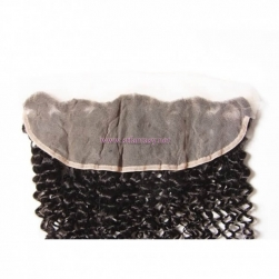 ST Fantasy  Peruvian Jerry Curly Hair 134 Lace Frontal Closure With 3Bundles