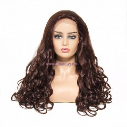 ST Fantasy Luxurious Long Wavy Lace Front Wigs Human Hair 2 Colors