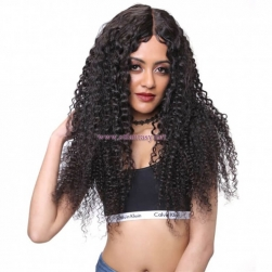 ST Fantasy Middle Part Long Jerry Curly Lace Front Wig